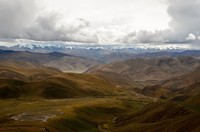 Cloudy Himalayan skyline seen from Pang la pass (5200m)