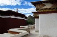 View of the Gyantse Dzong from Gyantse Kumbum