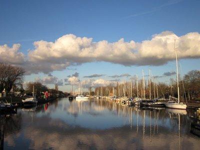 Cloud above harbour