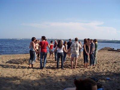Games at the Peski beach