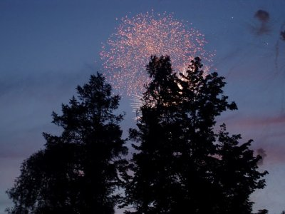 The fireworks at den goroda (the Day of the Town Festival)