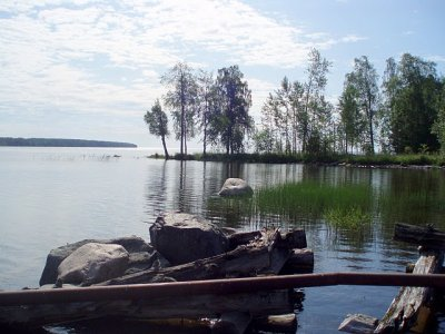 A view of the lake near the dacha