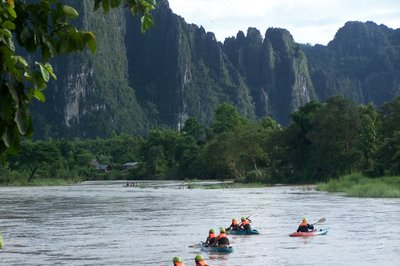 Kayaking in Vang Vieng