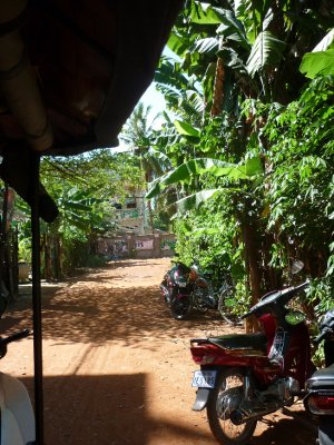 Our hostel street