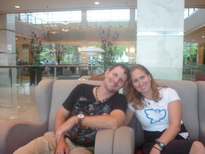 Mike and Sara in Shangra La Hotel
