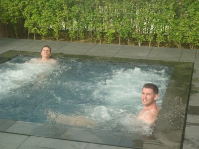 Tim and Spencer Jacuzzi