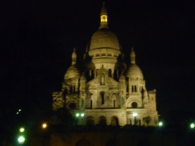 Sacre Coer night view