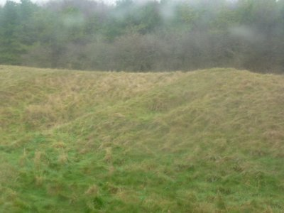 Barrow mound near Stonehenge