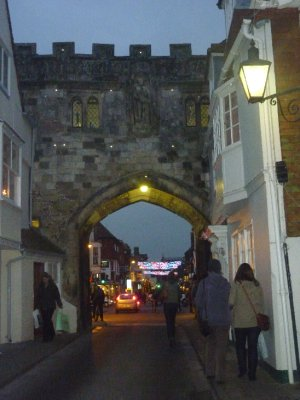 Arch into old city of Salisbury