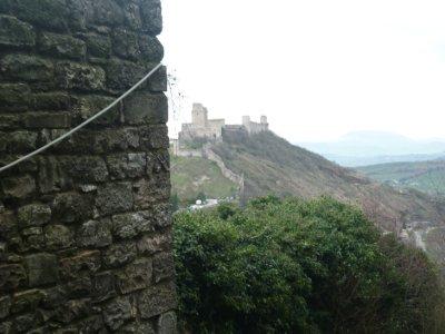 View from Rocca Minore to Rocca Magiore