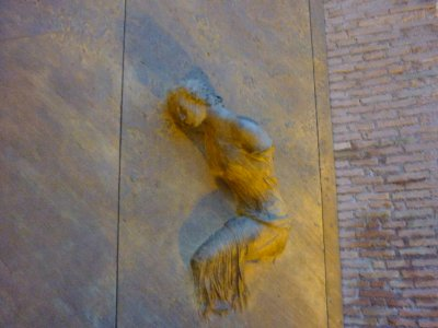 Cool sculpture in the door of St. Maria degli Angeli