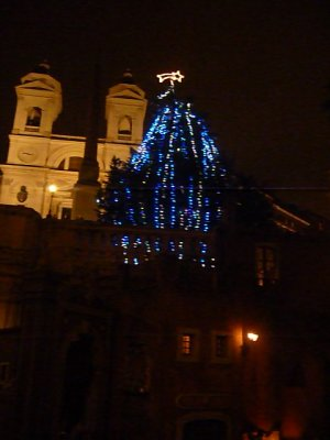 Spanish steps Christmas tree