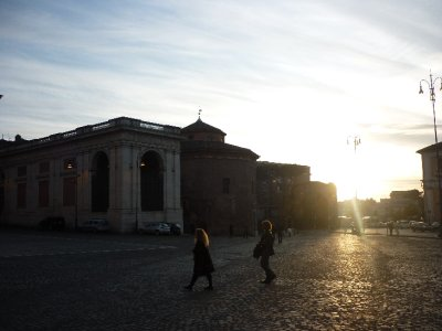 Sunset on Lateran Baptistry.