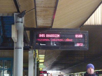 train platform en route to Oswiecim
