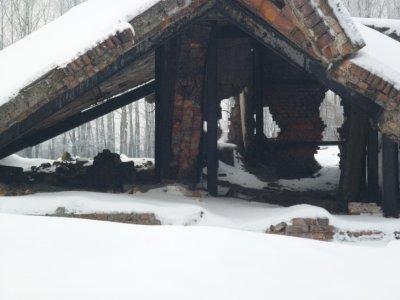 remains of crematorium at camp II