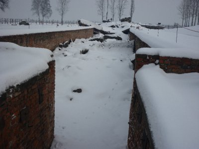 The gas chamber at Auschwitz II