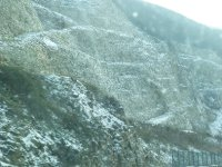 Appenine snowfall en route to Assisi