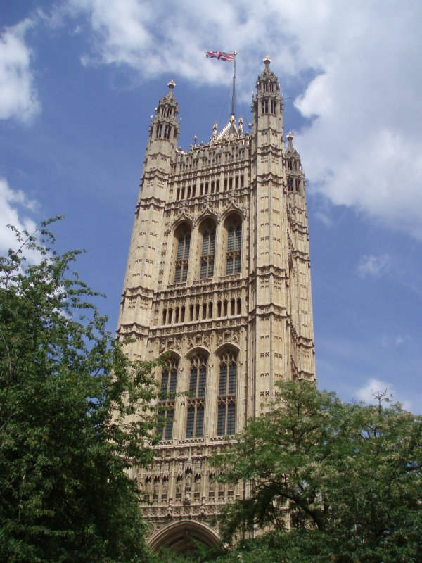 Flag over Houses of Parliament