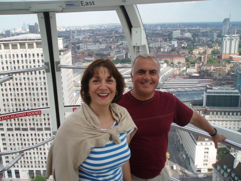 Mom & Dad in the London Eye