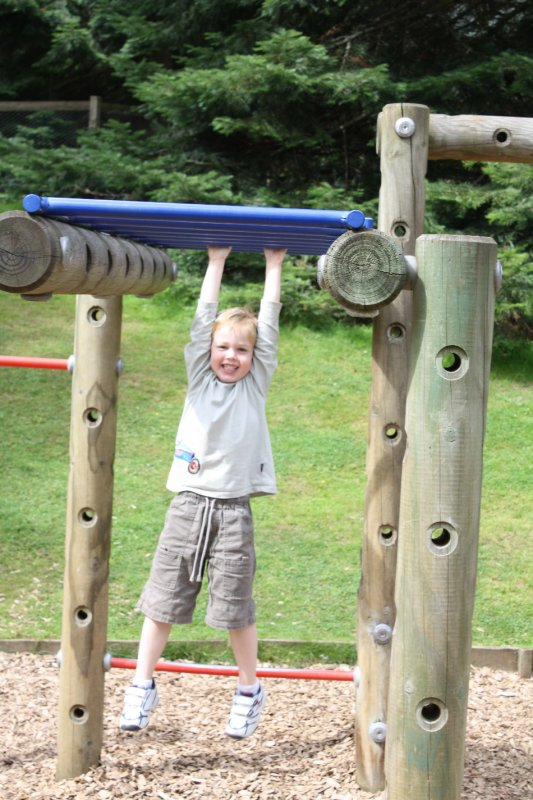 Oliver at Blair Castle playground