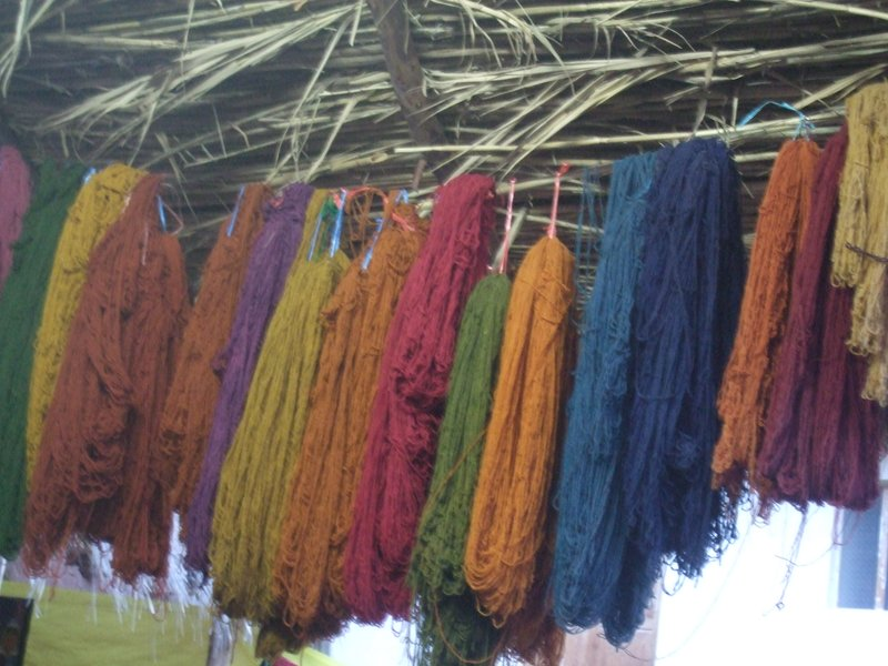 Alpacca wool coloured with natural dyes
