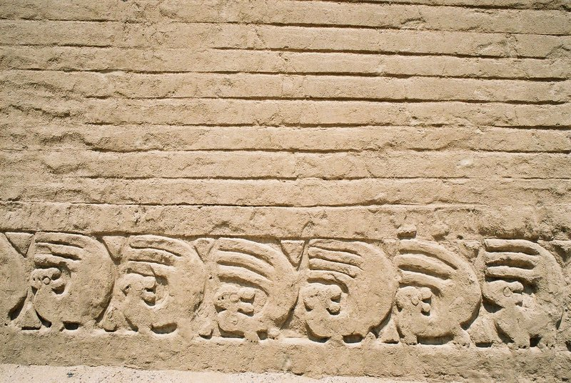 Motif from the ancient city of Chan Chan, near Trujillo