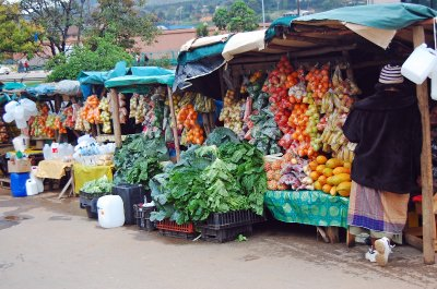 Market stall in Mbabane