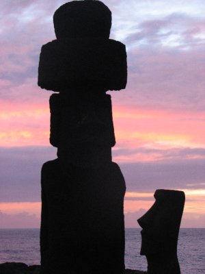 Sunset at Easter Island by Ofelia