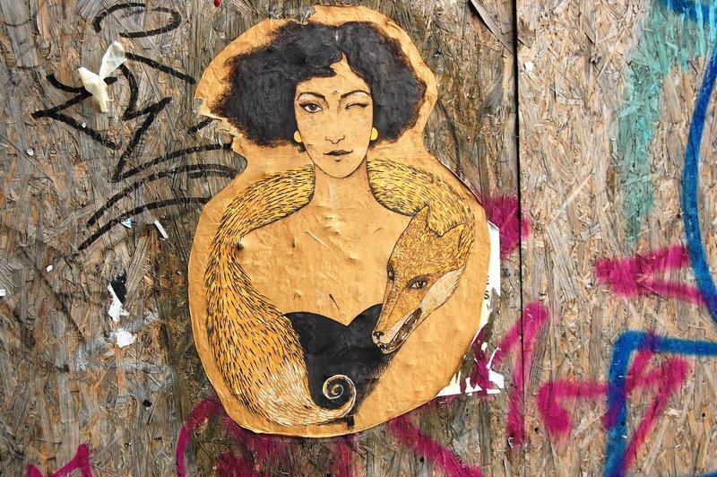 Street art on a wall