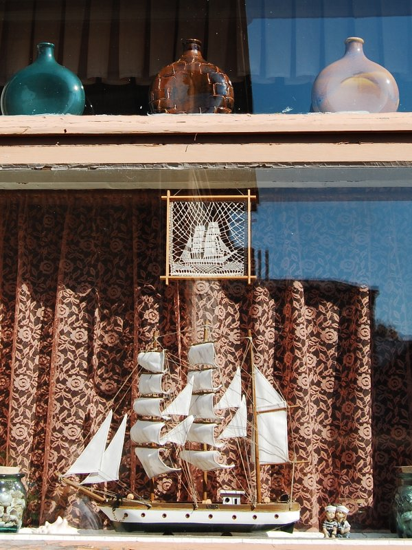 Boat on the window