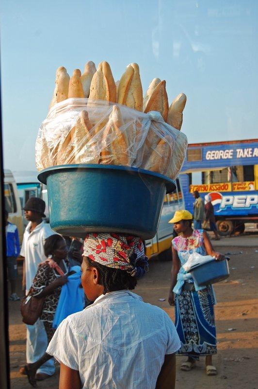 Bread Seller at bus station