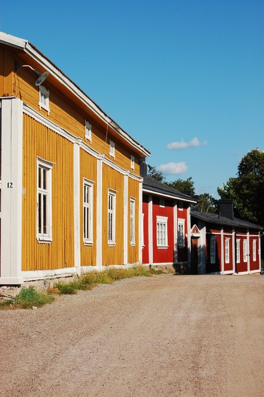 Row of colourful houses