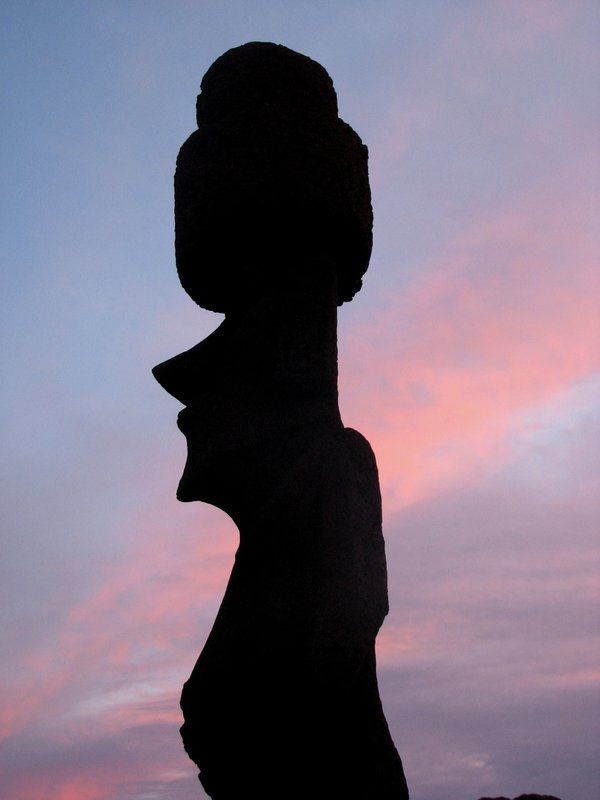 Sunset on the Easter Island