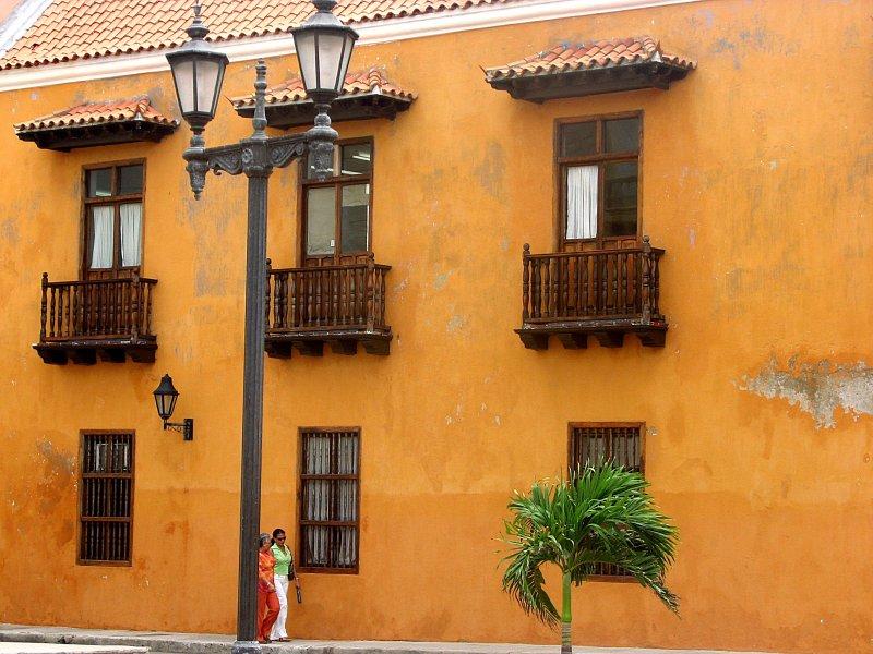 An orange wall