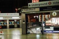 Vic station at night