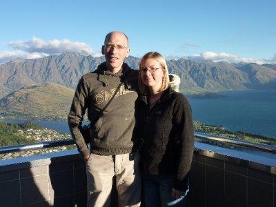 Phil & Lisa above Queenstown