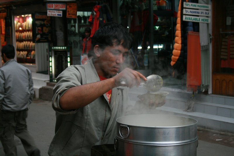 Steamed momo at Thamel, Katmandu