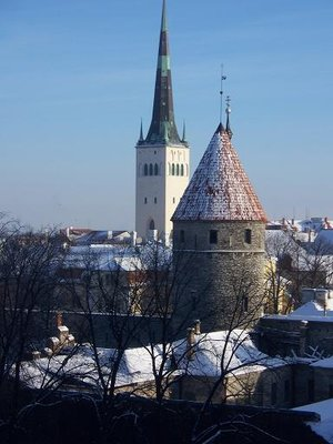 Churches and rooftops, Tallinn