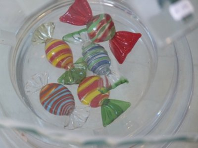 Sweets made from glass in the Glas Winkeltje, Leiden