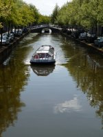 Canal boat, Delft