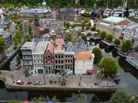 Model of Amsterdam houses on the canal, Madurodam