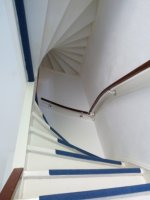 A typical staircase in a three storey house