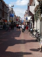 Harlemmerstraat, one of the main shopping streets in Leiden
