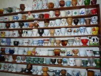 Part of Tante Toos' collection of egg cups