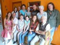 Front (L-R): Nancy, Ruud, Tante Ida, Rosemary, Laura, Oom Henk; Rear (L-R): Emma, Oom Piet, Shirley, Jennifer, Dennis, Tante Grad, Herbert
