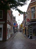 A typical street scene in the centre of Alkmaar