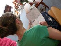 Emma sketching