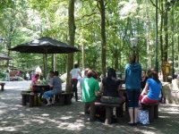 Having lunch at the Efteling.