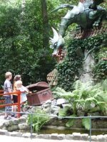 Dragon protecting his treasure chest, in the Sproekjes Bos, Efteling