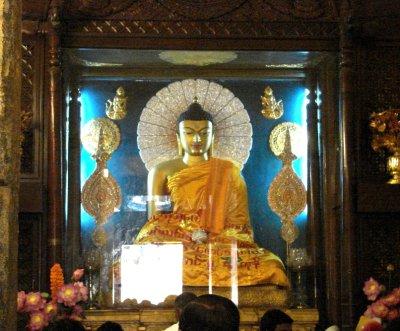 Inside the Mahabodhi Temple